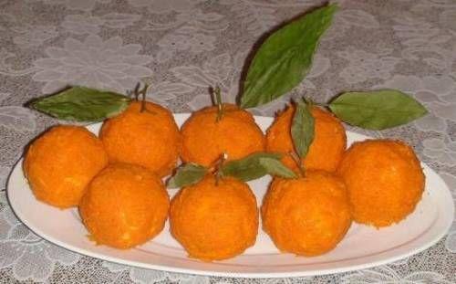 Праздничная закуска «Чесночные мандарины» / Простые рецепты