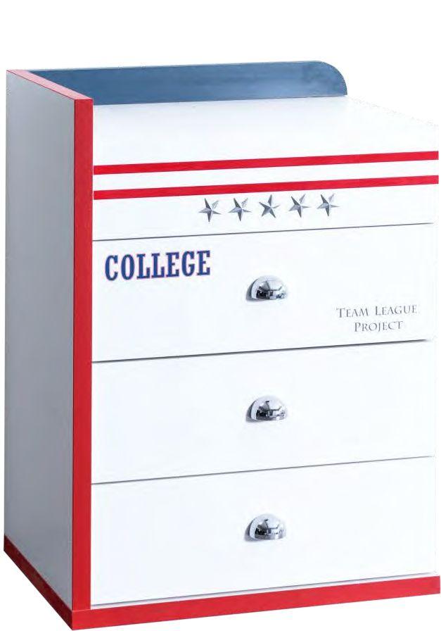 Wäschekommode College weiß/blau | im möbel-spot kids Shop