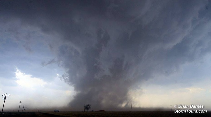Tornado in the Texas Panhandle. Today's catch near Floydada, Texas; just minutes after the supercell was tornado warned by the NWS.