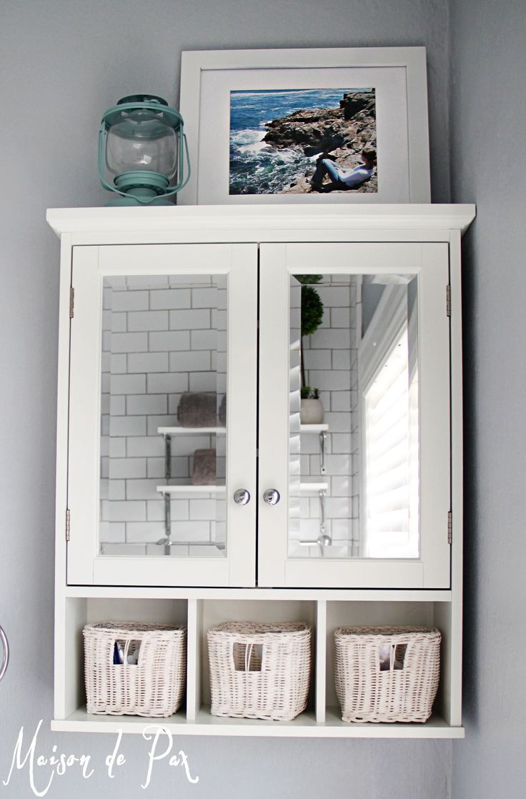 Best bathroom mirror cabinets - Gorgeous White And Gray Marble Bathroom