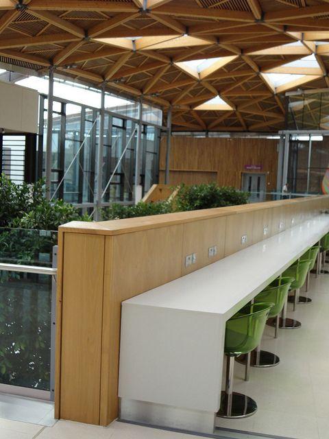 Work spaces on Mezzanine, Forum, University of Exeter