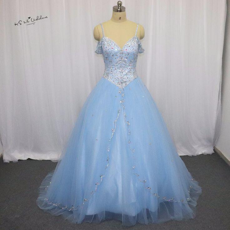>> Click to Buy << Vestidos de 15 Anos Princesa Sweet 16 Ball Gowns Cheap Light Blue Burgundy Quinceanera Dresses 2017 Rhinestones Luxury Debutante #Affiliate