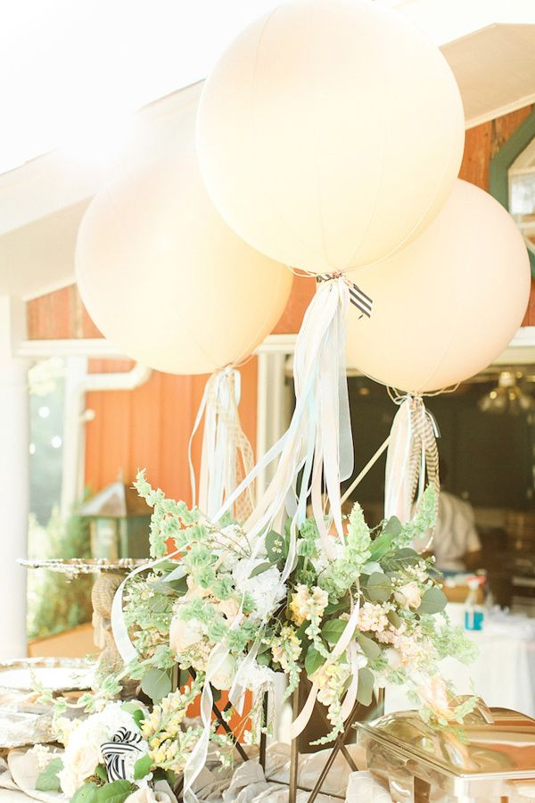 Water for elephants themed reception photo by the nolans for Balloon decoration for wedding receptions