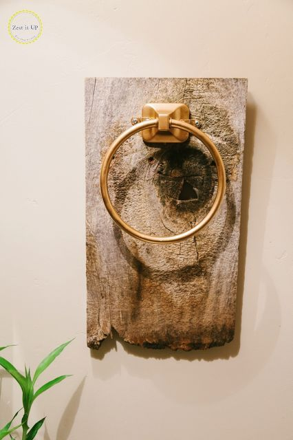 easy bathroom hand towel holder, bathroom ideas, home decor, home improvement, repurposing upcycling, woodworking projects