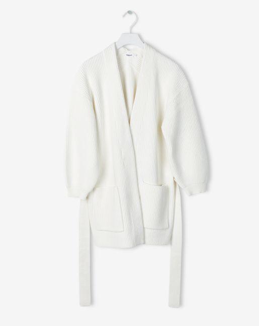 Sculptural Cotton Cardi Cream - New Arrivals - Shop Woman - Filippa K