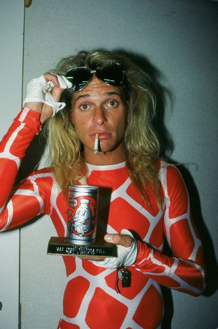 David Lee Roth with some Boy Howdy Beer Award Creem Magazine