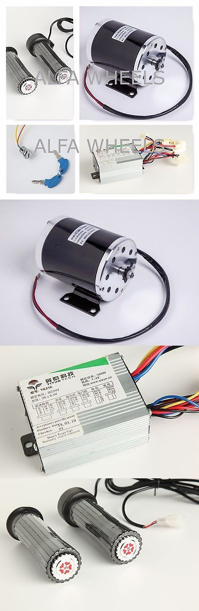 Parts and Accessories 11332: 500 W 24 V Dc Electric Motor Kit W Base+Speed Control+Throttle+Keylock F Scooter BUY IT NOW ONLY: $86.0