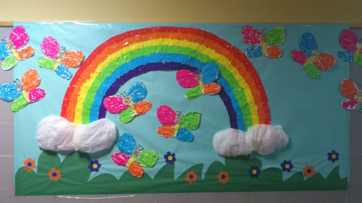 Mural de primavera ideas para el aula pinterest murals for Deportes para el periodico mural