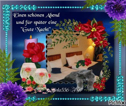 Liebe Grüsse/zum Abend/Gute Nacht