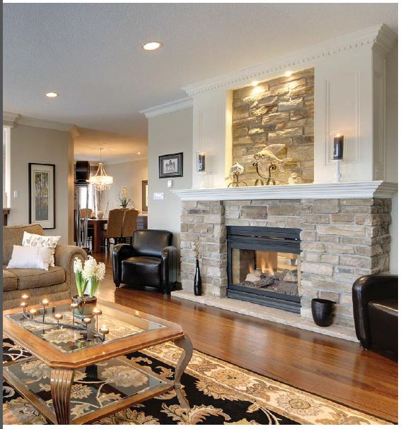 Great Way To Tie In Stone Wall From Dining Room And Wainscoting In Living Room With J 39 Lem