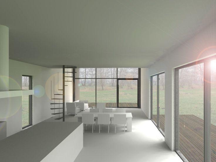 LOCATIE Delfstrahuizen (Friesland) PROGRAMMA wonen OPGAVE uitbreiding STATUS omgevingsvergunning OMVANG 135m2 excl. veranda Het bestaande woonhuis is in de loop van de tijd uitgebreid met een aantal ontsierende uitbouwen. Door deze uitbouwen te slopen wordt het oorspronkelijk woonhuis weer zichtbaar. De woning wordt vergroot met een nieuwe uitbreiding in het verlengde van het woonhuis. De uitbreiding wordt als een monoliet uitgevoerd, waarbij de gevel en het dak dezelfde materialisering…
