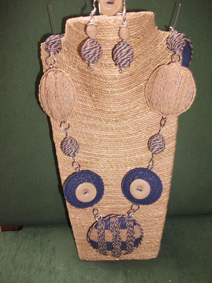 Conjunto de collar largo , pendientes y anillo de ARTESANIAALMA en Etsy