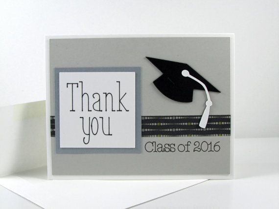 Custom Graduation Thank You Cards Handmade by CardsToInspire