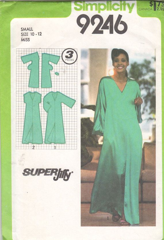 Simplicity 9246 1970s Super Jiffy Misses Pullover by mbchills