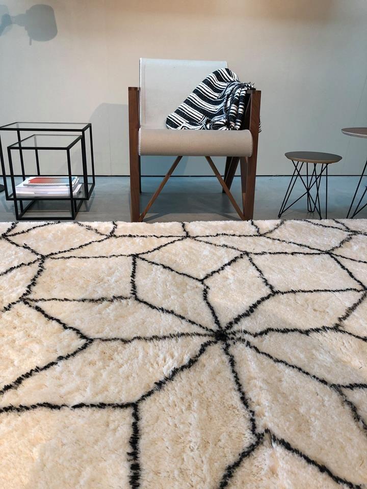 New From Carpet Sign Byzance 45mm Rug Design Alhambra In Black White 100