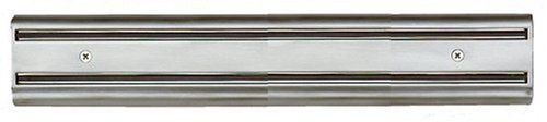 Kuchenprofi 14-Inch Magnetic Knife Rack in 18/10 Stainless Steel by Kuchenprofi. $18.97. Made in Germany; wipe clean. 18/10 stainless steel. Two long magnetic strips set in stainless steel bars; hold knives securely. Measures 2-1/4 inches high by 14 inches long.. Mounts to the wall. Founded in Solingen Germany by Artur Schmitz in 1923, the story of Kuchenprofi is one of dilligence, innovation and refinement. Early on, Kuchenprofi realized the need for affordable ...