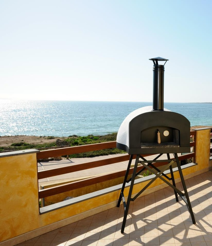 """Subito Cotto"" Zio Ciro woodburning oven! Fantastic design:-) How about a pizza party on the terrace of your house , and maybe in front of sea? ""Subito Cotto"" ready to use wood fired oven with its new stylish design!! Only by Zio Ciro ° ° ° ° °"
