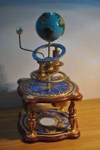 a geocentric orrery planetarium astronomy steampunk art earth globe lunarium