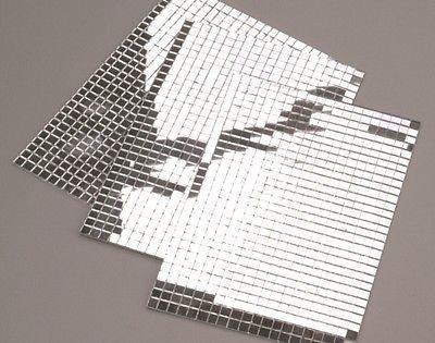 600 Small Silver Self Adhesive Mirror Mosaic Tiles Part 88
