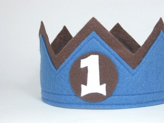 First Birthday Felt Crown --MADE TO ORDER -- You Choose Colors