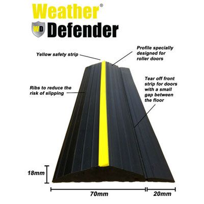 Garage Door Floor Seal Weather Defender