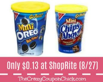 Perfect For the Lunch Box!! Nabisco Go Paks Only $0.13 at ShopRite (Starting 8/27)