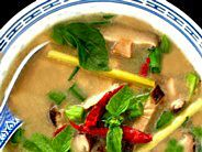Thai Chicken Soup with Coconut Milk (Tom Ka  Ga) *this was amazing! I just need to find lime leaves. Also, i added a little too much fish sauce.