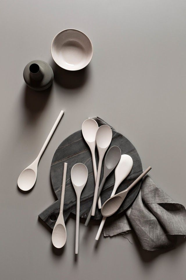 We're loving the softness of these kitchen accessories.