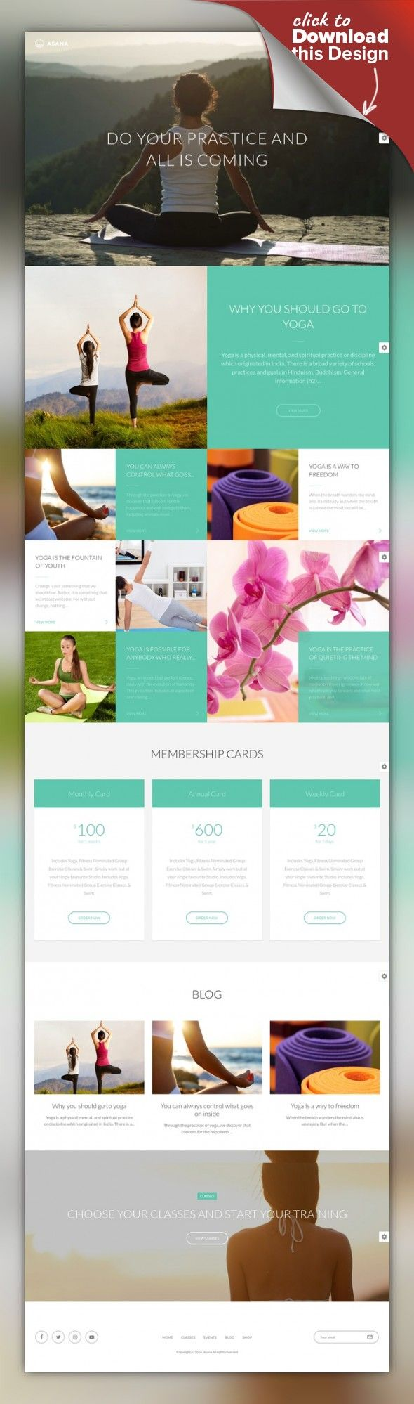 Asana - Sport and Yoga WordPress Theme classes, dance, events, fitness, gym, meditation, pilates, schedule, shop, spa, sport, studio, timetable, trainer, yoga Asana is a clean, flat and modern WordPress theme suitable for any type of sport and dance studios, gyms, health clubs, event agencies and a lot more. Asana is designed according to the latest trends, fresh colors are used. The theme is designed for full size screen. ...