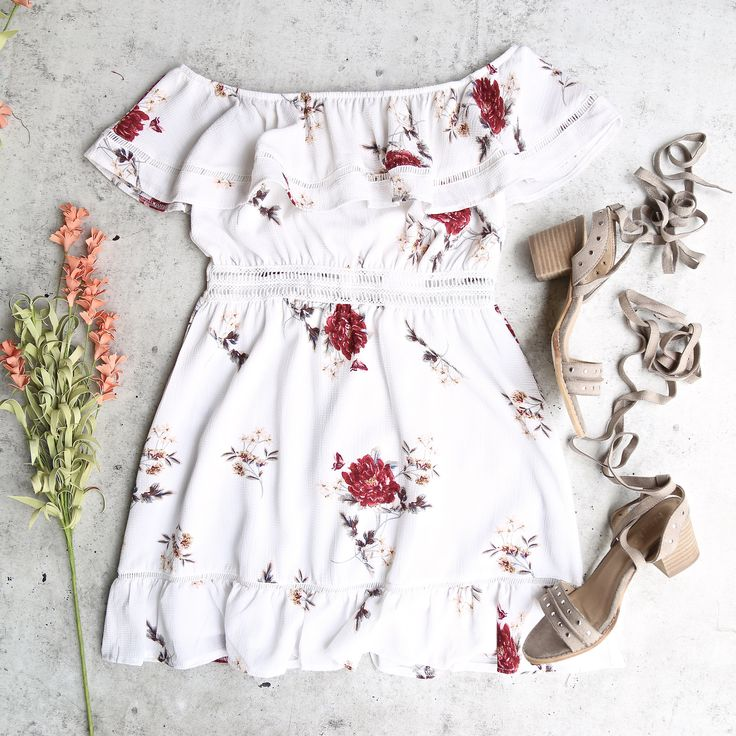 floral off the shoulder strapless mini dress