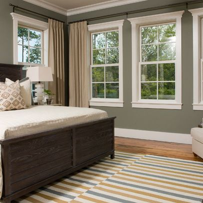 I like the simple  attractive choice homeowner has selected for window coverings in this Corner Window TreatmentsWindow CoveringsBedroom 62 best Treatments images on Pinterest Beautiful