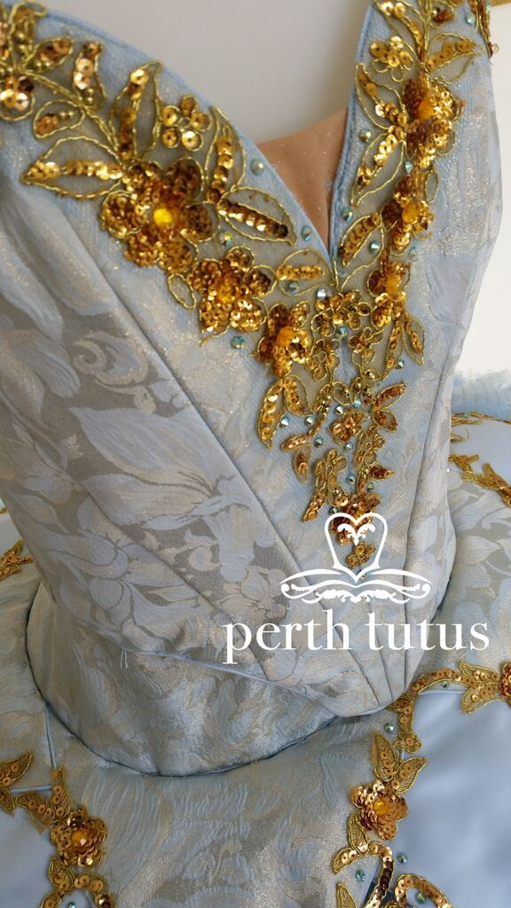 Brocade bodice on traditional tutu by Perth Tutus.
