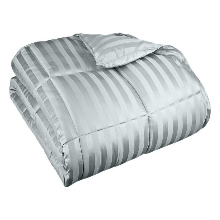 Superior All Season Wide Stripes Down Alternative Comforter Jade - COMFORTER TXL ST-JD (1IN)