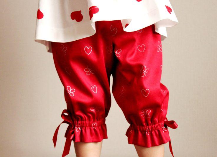 Algodón de niñas T2 capri pantalones cortos por Maliposhaclothes