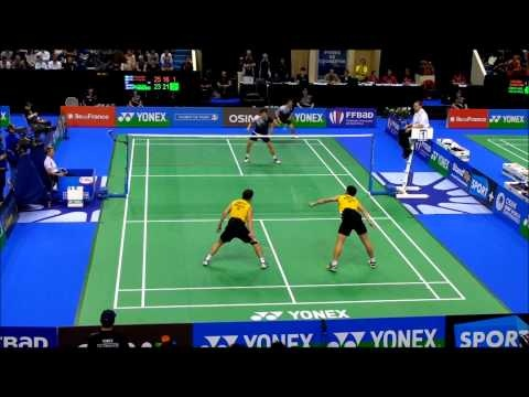 If ninjas played Badminton, it would look like this. IFB 2012 Best Of Lee Yong Dae & Ko Sung Hyun VS Koo Kien Kieat & Tan Boon Heong ( Full HD 1080hp )