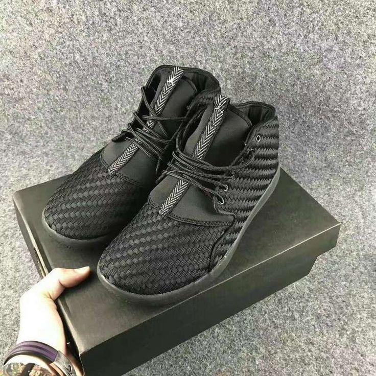 online store 80427 5f724 Jordan Eclipse Chukka Woven Triple Black 881453004 Chaussures Jordan Basket  pour Homme Noirs CouleurNoire ...