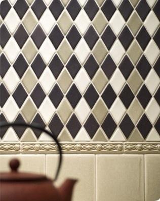 Rhomboid MoSuprema Mosaic Tiles traditional kitchen tile