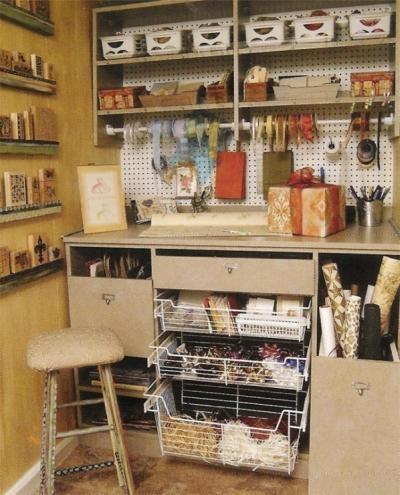 Turn A Closet Into A Compact Craft Area Organization