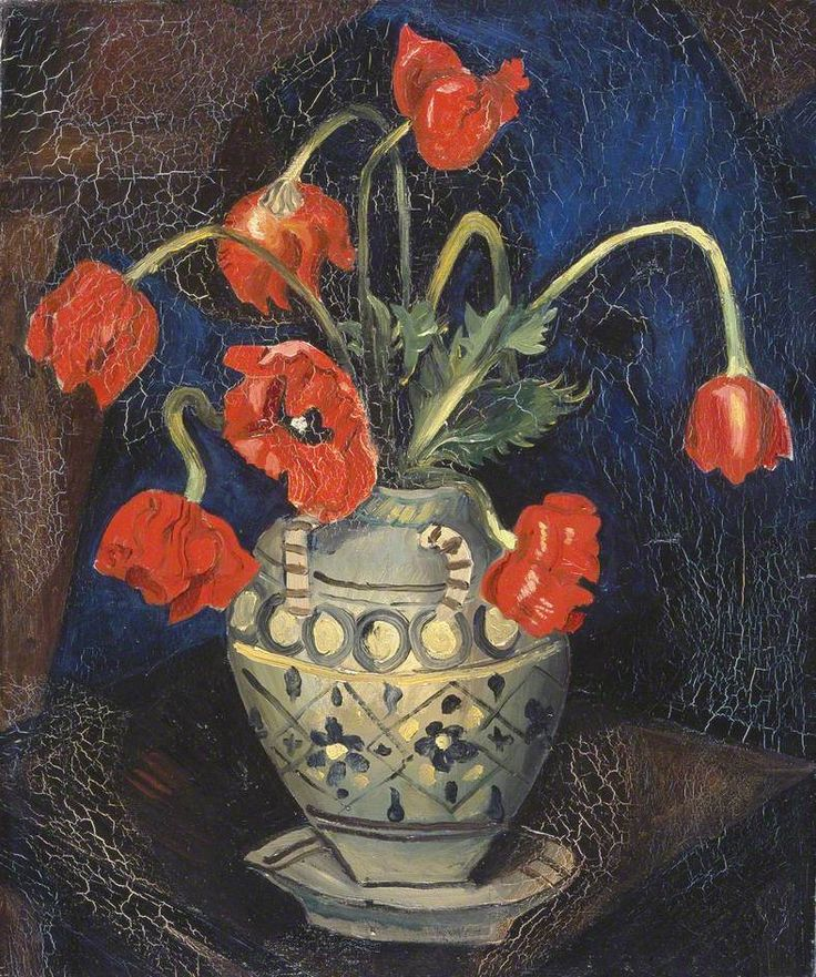 Christopher Wood (English, 1901-1930) - Poppies in a Decorated Jar, 1925