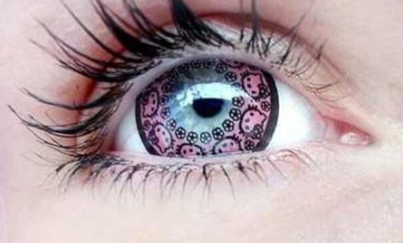 Hello Kitty.  The f*cking contact lenses.  You've got to be kidding me.