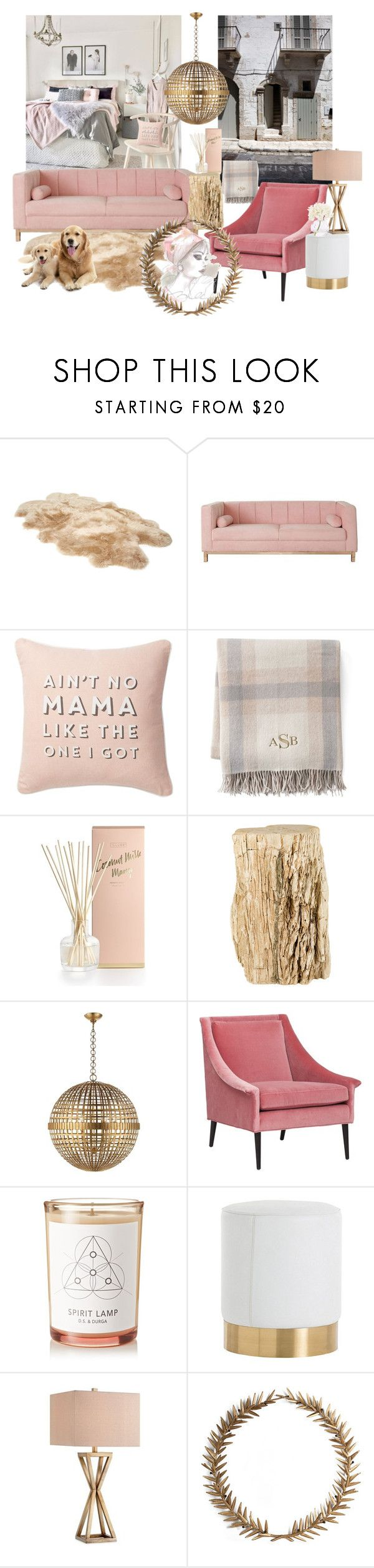 """""""FEMININE apartment"""" by mara-wink on Polyvore featuring interior, interiors, interior design, home, home decor, interior decorating, UGG, Nordstrom Rack, Lands' End and Illume"""