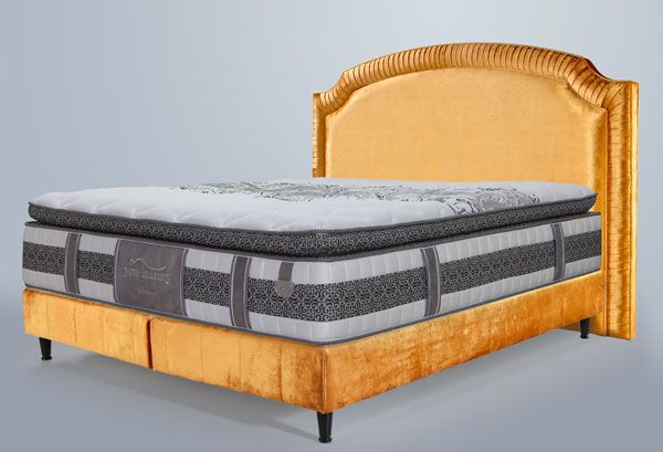 Luxus Boxspringbett French Gold Diamond