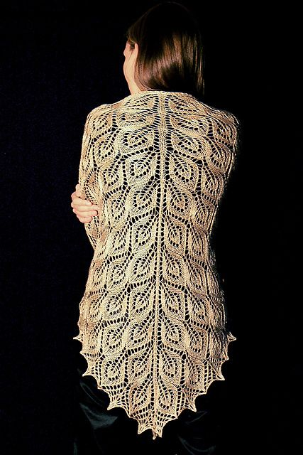 Free Knitting Pattern: Tree of Light by Cordula Surmann-Schmitt (I'd probably make a baby blanket instead of a shawl)