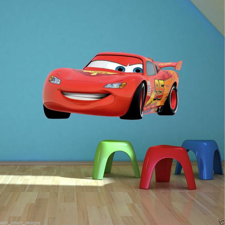 Cars Lightning Mcqueen Full Colour Wall Art Sticker Decal