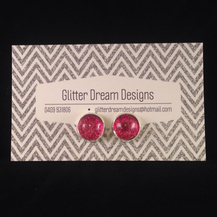 Order Code A11 Pink Cabochon Earrings