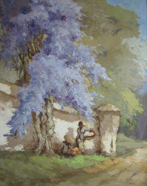 Lucien Frits Ohl - Straatverkopers bij bungerboom