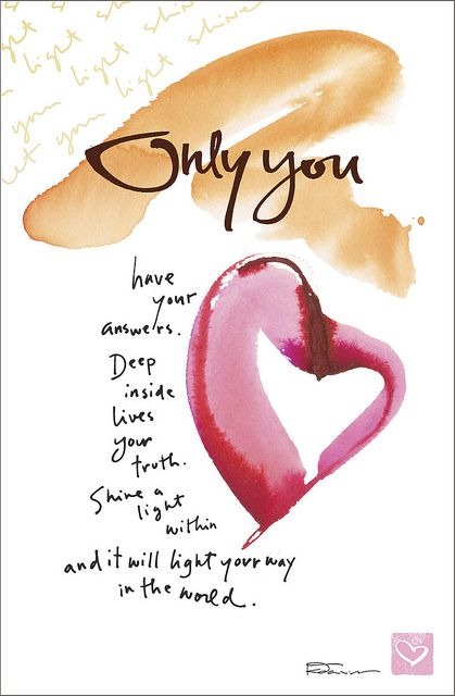 Kathy Davis Dose of Inspiration: Only You | Flickr - Photo Sharing!