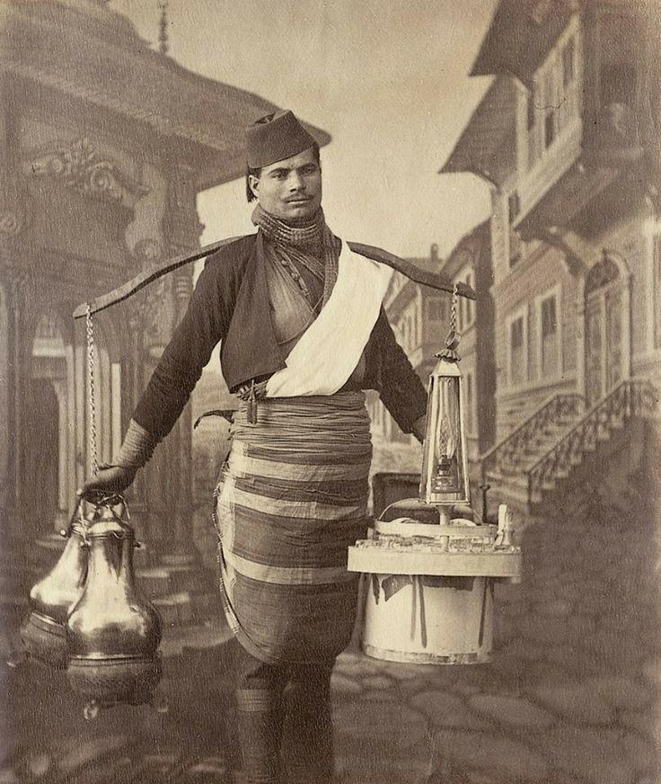 Osmanlı'da Kahve ve limona satıcısı-1870