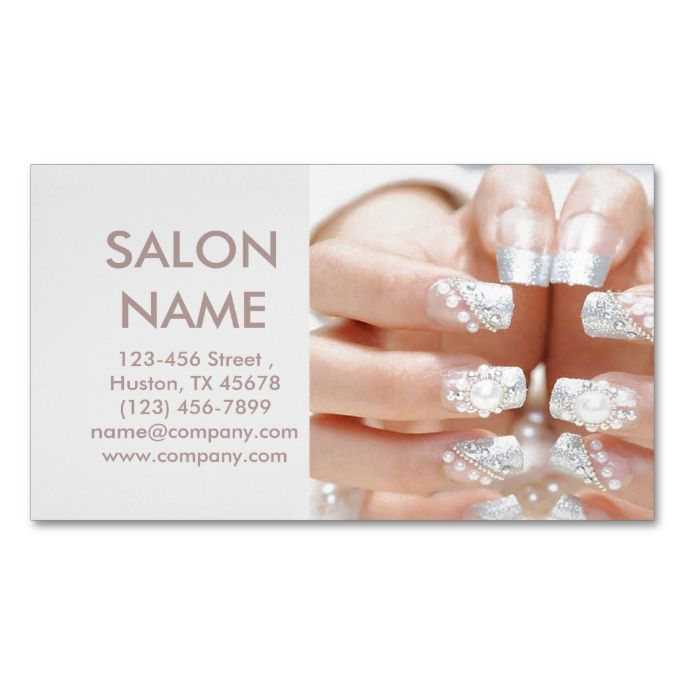 1938 best images about nail technician business cards on for Nail salon business card