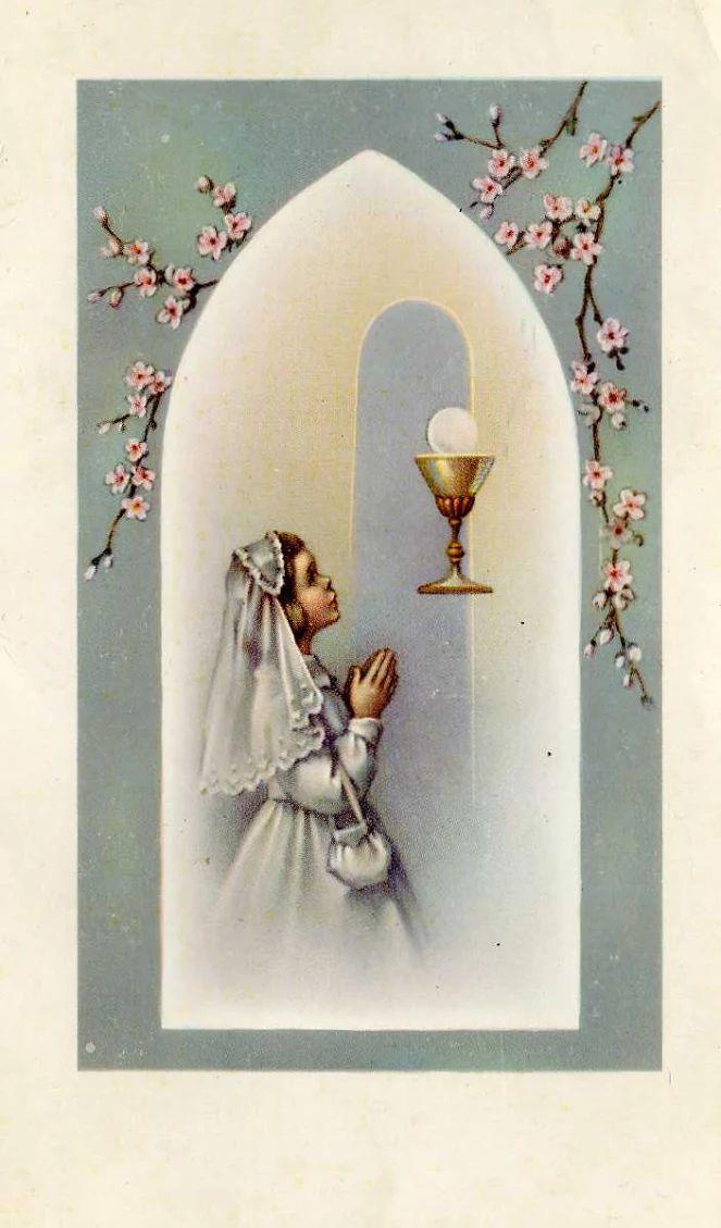 Ho detto a Gesù: Ti prego siimi sempre vicino, aiuta e benedici tutti coloro che mi amano. Sorridendo, Egli rispose: Così sia. 1962, 25 aprile, Voghera, Prima comunione